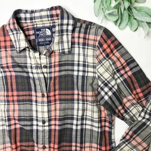 NORTH FACE | sz S womens flannel button down